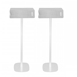 Vebos Soporte de Pie para Ikea Symfonisk horizontal blanco pareja