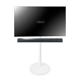 Vebos Soporte de Pie para televisión Yamaha Musiccast Bar 400 blanco