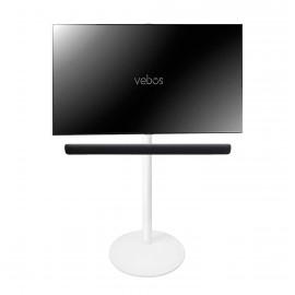 Vebos Soporte de Pie para televisión Yamaha YAS 109 Sound Bar blanco